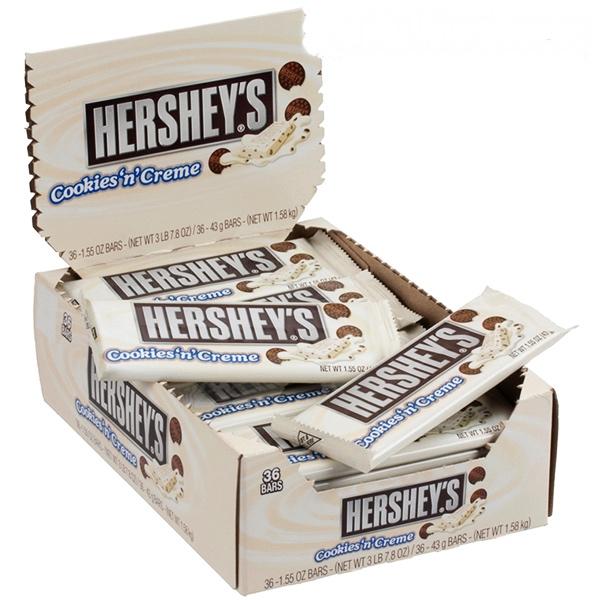Bild av Hersheys Cookies N Creme 43gram x 36st