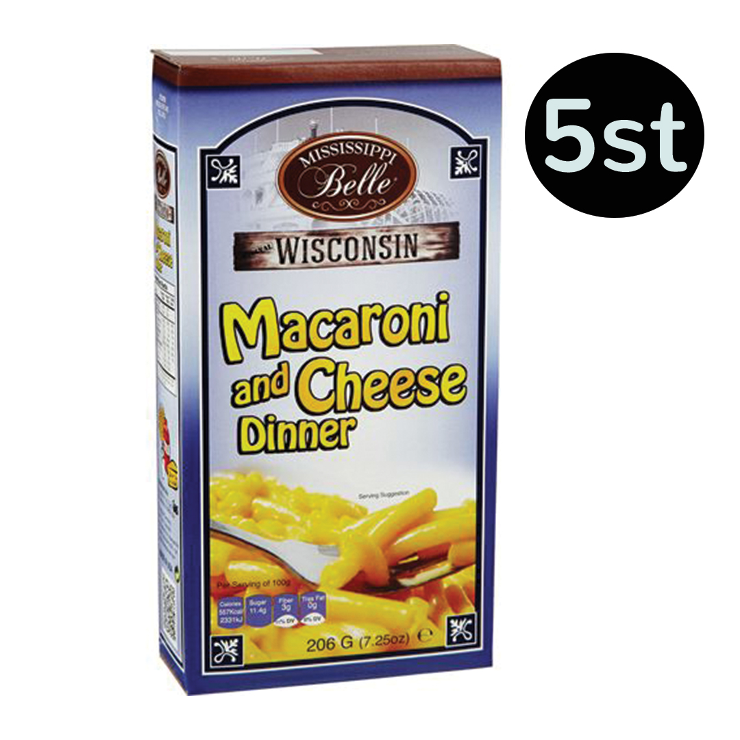 Mississippi Belle Macaroni & Cheese 206g x 5st