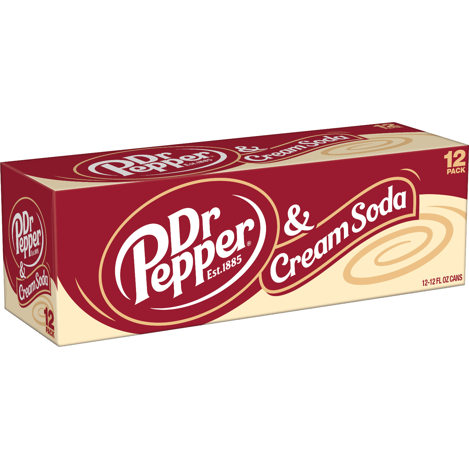 Dr Pepper & Cream Soda 355ml x 12st
