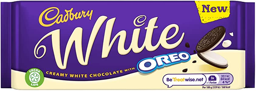 Bild av Cadbury Oreo White Chocolate 120g