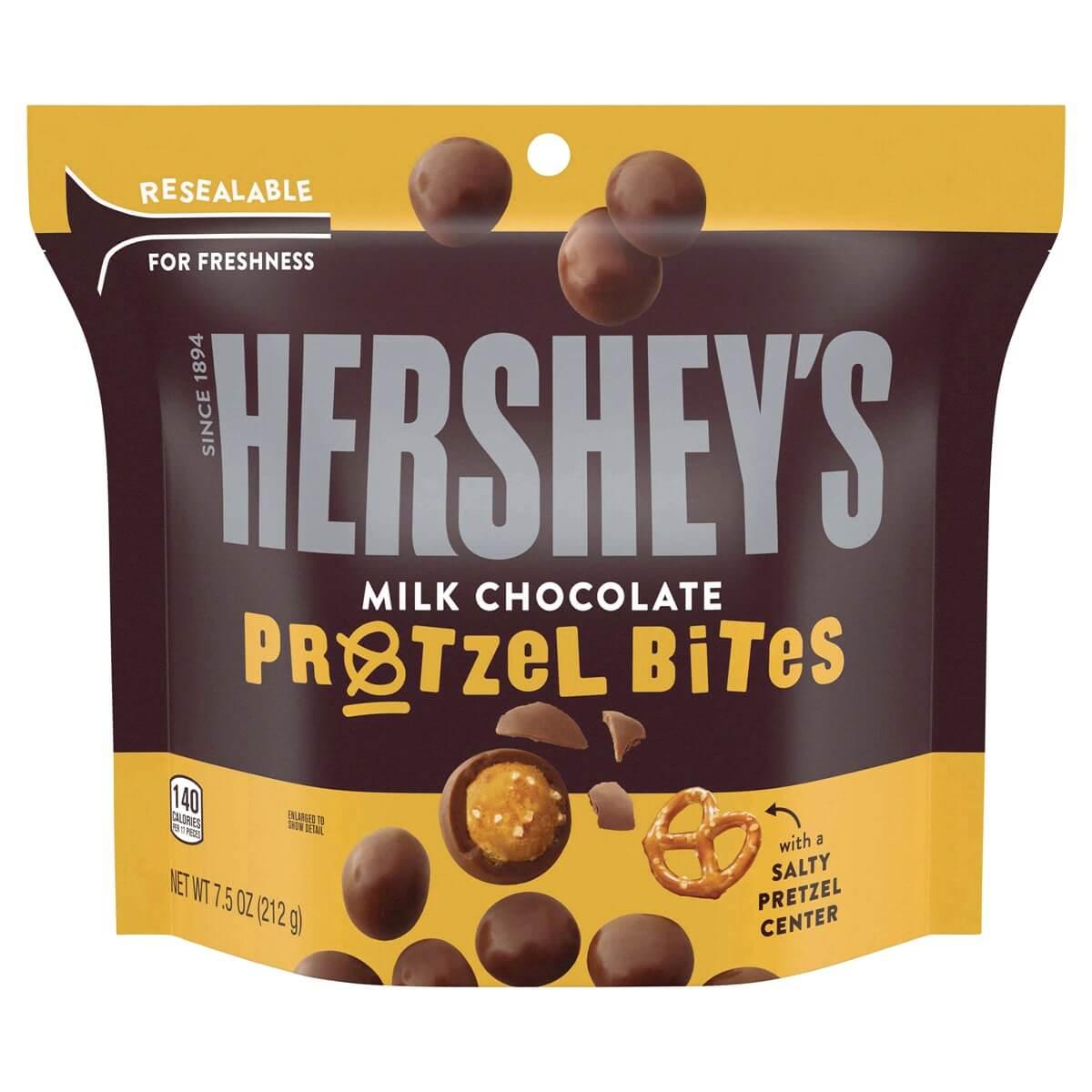 Bild av Hersheys Milk Chocolate Pretzel Bites 212g