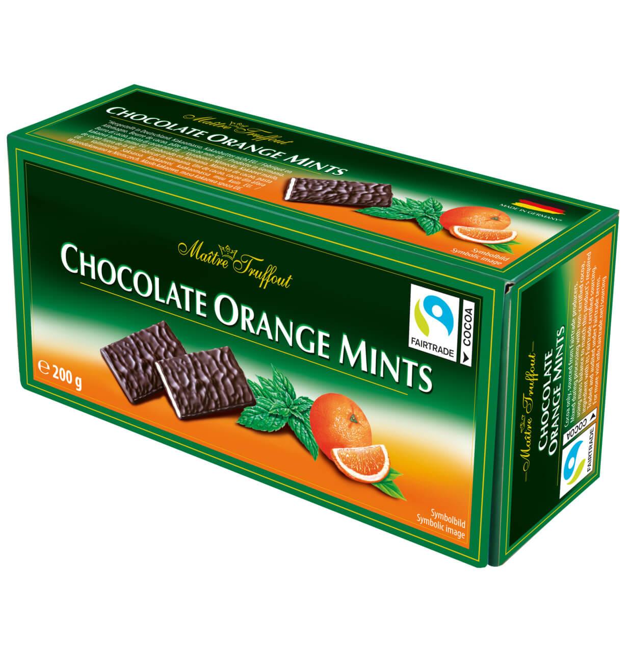 Bild av Maitre Truffout Chocolate Orange Mints 200g