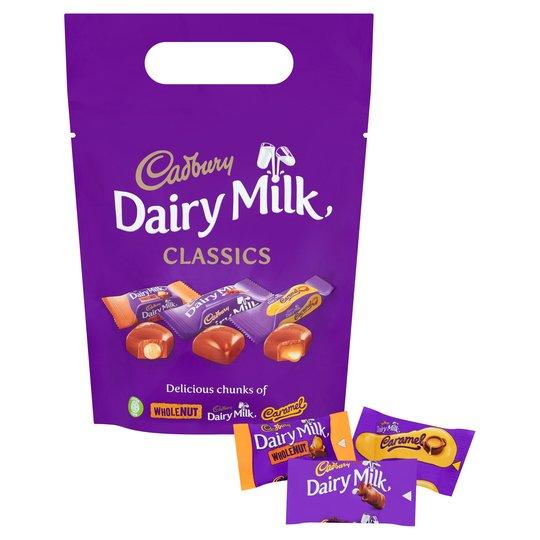 Bild av Cadbury Dairy Milk Mixed Chunk Pouch 350g