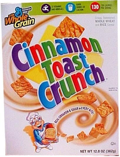 Cinnamon Toast Crunch cereal 345g