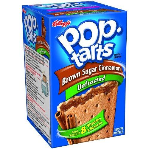 Kelloggs Pop-Tarts Unfrosted Brown Sugar