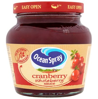 Ocean Spray Cranberry Wholeberry Sauce 250g
