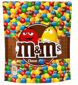 M&Ms Choco 165gram