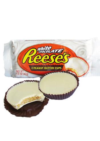 Bild av Reeses White Chocolate Peanut Butter Cups 42gram